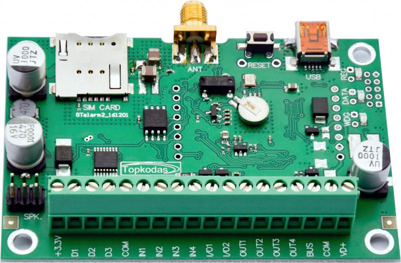 GSM/ GPRS valdiklis praėjimo kontrolei